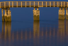 Golden Bridge with Reflections Royalty Free Stock Photos