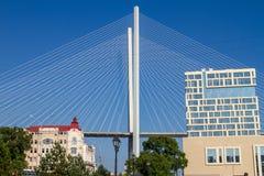 The Golden Bridge in Vladivostok, Russia royalty free stock photo