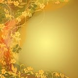 Golden bright floral backgrounds Stock Images