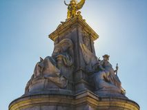 Golden British sculpture. Sculpture in front of Buckingham Palace Royalty Free Stock Photo