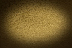Golden brocade pattern Stock Photos