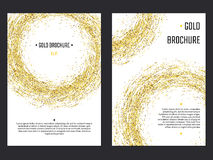 Golden Brochure  Template 1 Stock Images