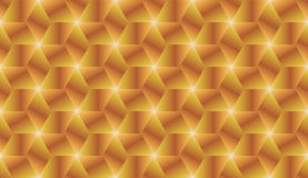 Golden and bronze gradient cubes seamless pattern Stock Photography