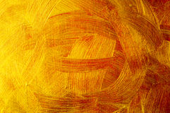 Golden and bronze paint  background Stock Images