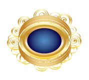 Golden Brooch Royalty Free Stock Photos