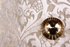Golden Brooch Stock Photos