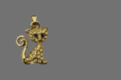 Golden brooch Royalty Free Stock Images