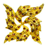 Golden brooch Stock Image