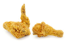 Golden brown fried chicken Stock Images