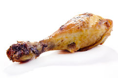 Golden brown fried organic chicken leg Royalty Free Stock Photo