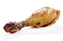 Golden brown fried organic chicken leg Royalty Free Stock Photo