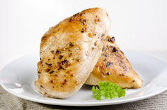 Golden brown grilled chicken fillet Royalty Free Stock Photo