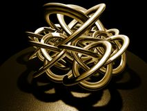 Golden brown knot Royalty Free Stock Image