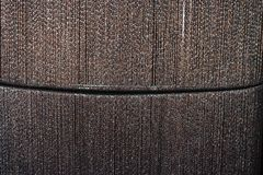 Golden brown line fabric texture Royalty Free Stock Images