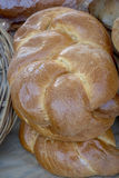 Golden brown loafs of bread at the market Royalty Free Stock Photography