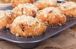 Golden Brown Muffin Closeup Stock Photo