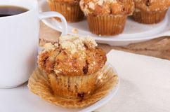 Golden Brown Muffin Stock Photo