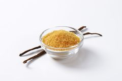 Golden brown raw cane sugar Royalty Free Stock Image