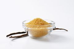Golden brown raw cane sugar Royalty Free Stock Photo
