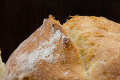 Golden Brown Scoring on top of French Roll. With dusted flour Royalty Free Stock Photos
