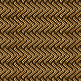Golden brown seamless geometric pattern with cool curved shapes royalty free illustration