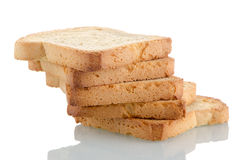 Golden brown toast Royalty Free Stock Photos