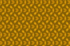Golden brown triangles in a repeating pattern over a brown background. Cool pattern with layer transparency effect for textile and fabric use. creative design Royalty Free Stock Image