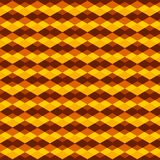 Golden brown triangles and rhombuses repeating pattern. Repeating pattern of intersecting rhombuses in golden colors. bright and yellow pattern for background Stock Photos