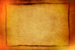 Golden brown vintage paper with grunge texture background and copy space for writing - horizontal. Stock image vector illustration
