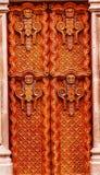Golden Brown Wooden Door San Miguel de Allende Mexico Stock Photos