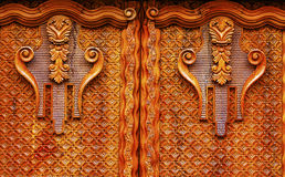 Golden Brown Wooden Door San Miguel de Allende Mexico Royalty Free Stock Photography