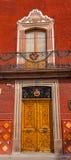 Golden Brown Wooden Door San Miguel de Allende Mexico Stock Photography