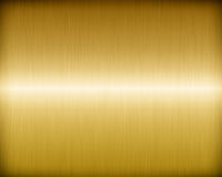 Golden Brushed Metal Royalty Free Stock Image