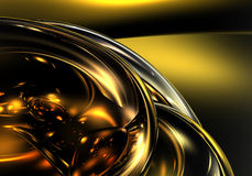 Golden bubbles 01. A Study of Form&Colors, rendered in Bryce Stock Photo