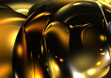 Golden bubbles 02. A Study of Form&Colors, rendered in Bryce Royalty Free Stock Photos