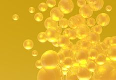 Golden Bubbles Stock Photos