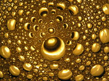 Golden bubbles in beer abstract light close up, drops of water. Golden bubbles in beer abstract light close up drops of water Stock Illustration