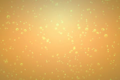 Golden bubbles inside a glass of champagne. On gold background, holiday festive concept Vector Illustration