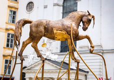 Golden Bucephalus in Vienna Royalty Free Stock Photos