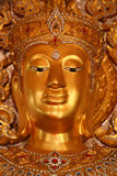 Golden Budda in thai temple Royalty Free Stock Photography