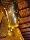 Golden Budda. Wat Po - Tailand - Bangkok - The laying Buddha Stock Images