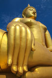 Golden Budda with beautiful hand Royalty Free Stock Image