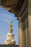 Golden budda on the Mt. Emei. Golden budda on the summit of Mt. Emei Royalty Free Stock Images
