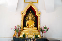 Golden budda statue Stock Photos