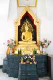 Golden budda statue Royalty Free Stock Photography