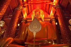 Golden buddah. Giant sitting Golden buddah Thailand Temple Stock Image