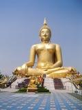Golden buddah. A giant golden buddah statue  in thailand Stock Images