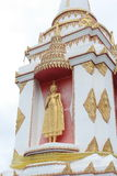 The golden buddah standing on stupa Royalty Free Stock Photos