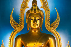 Golden buddha. In wat benchamabophit (marble temple) at Bangkok, Thaïland Stock Images