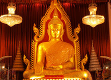 Golden Buddha. The golden Buddha statue in the church. In Thailand Stock Image